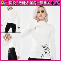 DOLLS KILL Short Casual Style Long Sleeves Plain Turtlenecks