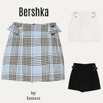 Bershka Short Other Plaid Patterns Casual Style Plain Shorts