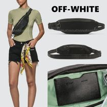Off-White Casual Style Unisex Plain Hip Packs