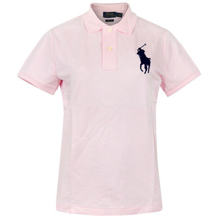 POLO RALPH LAUREN Logo Plain Cotton Short Sleeves Polos