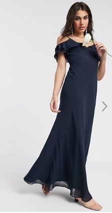 Maxi Plain Long Party Style Dresses