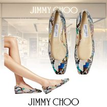 Jimmy Choo Platform Casual Style Street Style Plain Leather Party Style