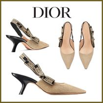 Christian Dior Leather Pin Heels Party Style Elegant Style