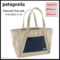 Patagonia Casual Style Unisex Canvas A4 Bi-color Totes