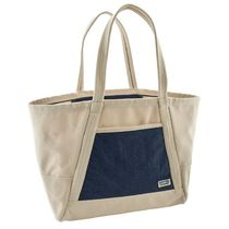 Patagonia Casual Style Unisex Canvas A4 Bi-color Logo Totes