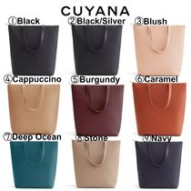 CUYANA Casual Style A4 Plain Leather Office Style Totes