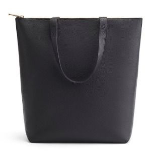 Casual Style A4 Plain Leather Office Style Logo Totes