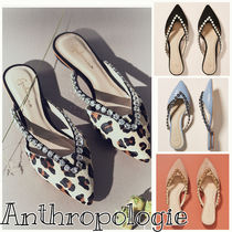 Anthropologie Leopard Patterns Casual Style Studded Plain Block Heels