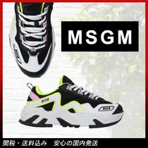 MSGM Casual Style Plain Low-Top Sneakers
