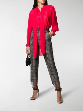 Other Plaid Patterns Casual Style Long Party Style