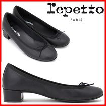 repetto Casual Style Studded Street Style Plain Leather Flats