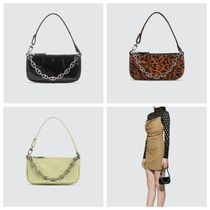 by FAR Leopard Patterns Logo Handbags