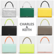 Charles&Keith Casual Style Faux Fur 2WAY Chain Plain Party Style Handbags