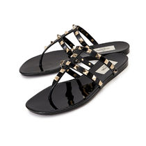 VALENTINO Rubber Sole Casual Style PVC Clothing Sandals