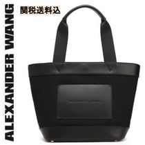 Alexander Wang Casual Style Plain Leather Office Style Totes