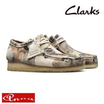 Clarks Camouflage Suede Street Style Plain Sneakers