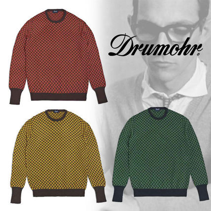 Crew Neck Cable Knit Pullovers Cashmere Long Sleeves
