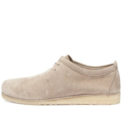 Moccasin Loafers Suede Street Style Plain Loafers & Slip-ons