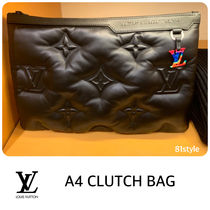 Louis Vuitton Monogram Street Style Bag in Bag Leather Clutches