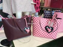 kate spade new york Dots A4 2WAY Plain Leather Totes