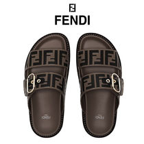 FENDI Casual Style Leather Sandals Sandal