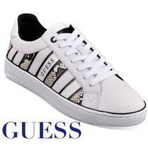 Guess Round Toe Rubber Sole Lace-up Casual Style Street Style
