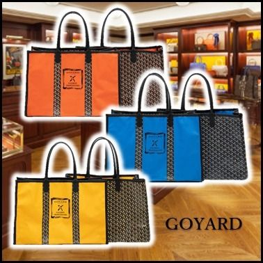 Casual Style Unisex A4 2WAY Totes