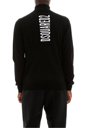 D SQUARED2 Sweaters Long Sleeves Logo Luxury Sweaters