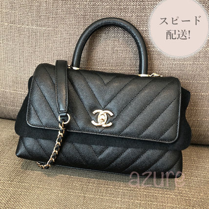CHANEL Casual Style 3WAY Leather Party Style Office Style