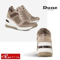 Dune LONDON Round Toe Lace-up Casual Style Street Style Plain Leather