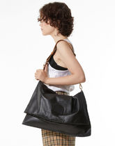 INSTANTFUNK Casual Style Street Style A4 Plain Leather Office Style