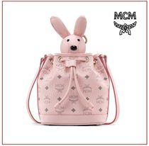 MCM Casual Style Canvas Party Style Office Style Shoulder Bags