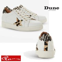 Dune LONDON Leopard Patterns Round Toe Lace-up Casual Style Street Style