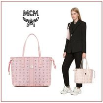 MCM Casual Style Canvas Office Style Shoulder Bags