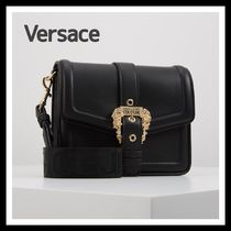 VERSACE Casual Style Faux Fur Plain Office Style Elegant Style