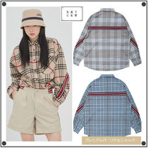 ROMANTIC CROWN Tartan Other Check Patterns Casual Style Unisex Street Style
