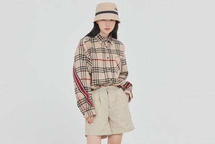 Tartan Other Plaid Patterns Casual Style Unisex Street Style