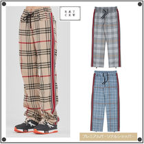 ROMANTIC CROWN Tartan Other Plaid Patterns Casual Style Unisex Street Style