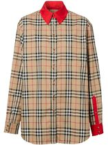 Burberry Other Plaid Patterns Casual Style Long Sleeves Cotton Medium