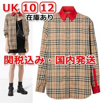 Burberry Other Check Patterns Casual Style Long Sleeves Cotton Medium