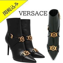 VERSACE Leather Pin Heels Ankle & Booties Boots