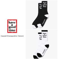 have a good time Unisex Street Style Plain Logo Undershirts & Socks