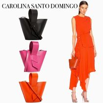 CAROLINA SANTO DOMINGO Casual Style 2WAY Leather Party Style Office Style