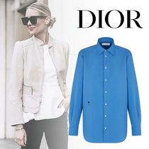 Christian Dior Casual Style Long Sleeves Plain Cotton Medium Office Style