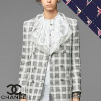 CHANEL Casual Style Cotton Office Style Elegant Style