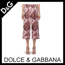 Dolce & Gabbana Flower Patterns Medium Party Style Elegant Style Culottes