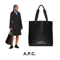 A.P.C. Casual Style Unisex Faux Fur A4 2WAY Plain Totes