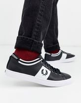 FRED PERRY Bi-color Plain Leather Sneakers