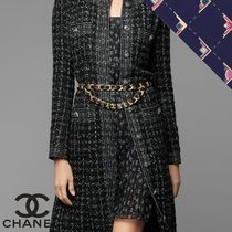 CHANEL Casual Style Silk Flared Medium Party Style Home Party Ideas