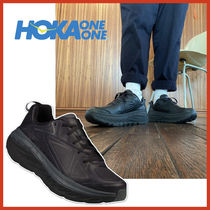 HOKA ONE ONE Unisex Street Style Plain Leather Sneakers